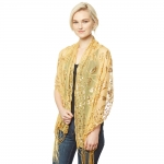 CS9112 Sequin Party Shawl Scarf, Gold