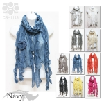 CSH1113 Ruffle Scarf with Corsage