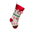 FC-02 Christmas Decoration knitted Big Sock -  Beige