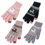 FG016 Nordic Pattern Knitted Touchscreen Gloves (1DZ)