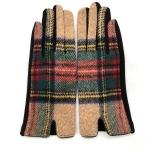 FG018 Multi Plaid Smart Touch Glove - Khaki