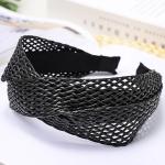FHW081(FH039) Twist Knot Straw Headband, Black
