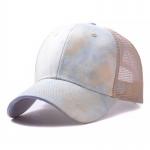 FH070 Tie-dye Color & Solid Color Mesh Baseball Cap, Khaki