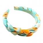 FHW075 Tie-Dye Braided Headband, Blue