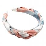 FHW075 Tie-Dye Braided Headband, Coral