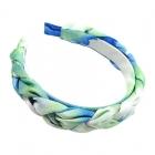 FHW075 Tie-Dye Braided Headband, Green