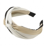 FHW077 Tri-Color One Knot Headband, Black/Coffee
