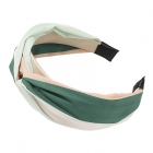 FHW077 Tri-Color One Knot Headband, Green/Pink