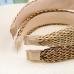 FHW079 Boho Chic Straw Headband, Beige
