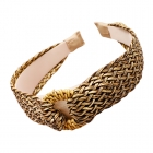 FHW079 Boho Chic Straw Headband, Natural