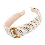 FHW079 Boho Chic Straw Headband, Ivory