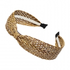 FHW080 One Single Knot Straw Headband, Natrual
