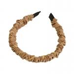 FHW084 Chain & Solid Fabric Headband, Coffee