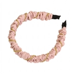 FHW084 Chain & Solid Fabric Headband,  Pink