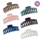 FHW085 Solid Color Grande Hair Claw (DZ)