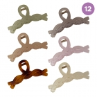 FHW088 Solid Jelly Color Baguette Hair Claw (DZ)