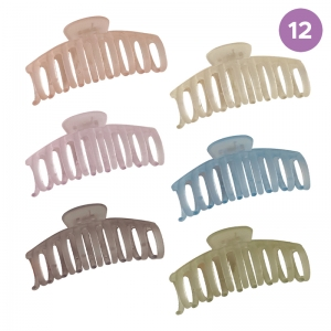 FHW089 Solid Jelly Grande Hair Claw (DZ)