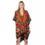 FP034 Vivid Color Bright Sun Pattern Poncho