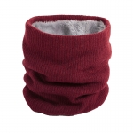 FS018 Solid Color Fleece Neck Gaiter - Burgundy