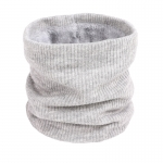 FS018 Solid Color Fleece Neck Gaiter - Grey