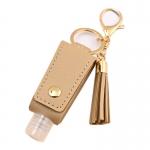 SA001 Solid Color Travel Size Sanitizer Holder W/Key Chain, Khaki