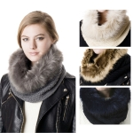 SS2742 Knit Neck Warmer with Onesied Fur