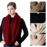 SS2746 Hairy Knit Infinity Scarf