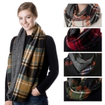 SS2748 Reversible Plaid Infinity Scarf