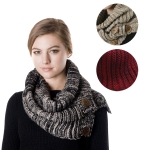 SS2751 Ombre Infinity Scarf with Button