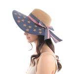 CH0607 American Flag Pattern Straw Hat