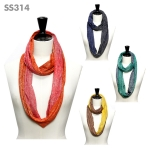 SS314 Two Tone Infinity Scarf